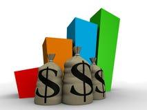 Statistique d'argent Photos stock