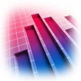 statistique financière d'image du diagramme 3d Illustration Libre de Droits