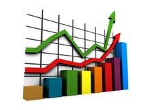 statistiques 3d Photographie stock libre de droits