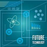 Statistiques diagramme et circuits de barre de technologie Photo libre de droits