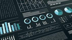Statistiques, données de marché financier, analyse et rapports, nombres et graphiques illustration de vecteur