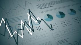 Statistiques, données de marché financier, analyse et rapports, nombres et graphiques illustration libre de droits