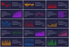 Statistiques et diagrammes de l'information de bannière d'Analytics Photographie stock libre de droits