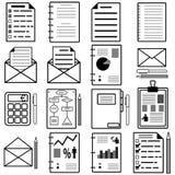 Statistiques et graphismes de fichier d'analytics Vecteur Image stock