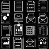 Statistiques et icônes de dossier d'analytics. Vecteur Images libres de droits