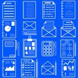 Statistiques et icônes de dossier d'analytics. Vecteur Photos stock