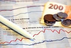Statistiques financières photographie stock