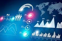 Statistiques financières Photographie stock libre de droits