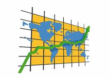 Statistiques - worldmap Photos stock