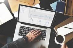 Statistisch de Boekhoudingsconcept van de financieel verslagopbrengst stock fotografie