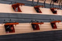 Statków Armatni porty Zdjęcia Royalty Free