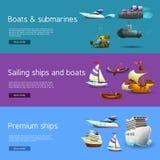 Statków I łodzi sztandary Ustawiający Fotografia Stock