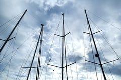 Statków maszty obraz stock