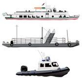 statki ilustracji