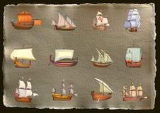 statki Royalty Ilustracja