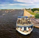 Statki i jachty na Daugava Zdjęcie Stock