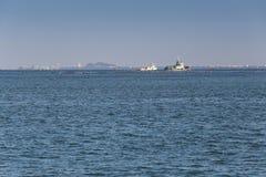 Statki i morscy obszary przybrzeżni w sriracha mieście Fotografia Stock