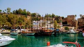 Statki na Antalya ` s molu Obraz Stock