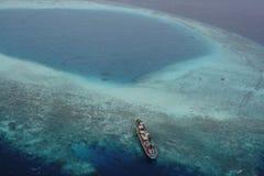 Statki na atolu Obraz Royalty Free