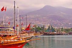 Statki przy brzeg Fotografia Royalty Free
