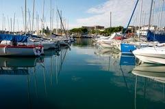 Statki przy Desenzano, Garda jezioro Zdjęcie Royalty Free