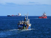 Statki przy morzem Obraz Royalty Free
