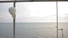 Statki przy morzem daleko od brzeg zdjęcie wideo
