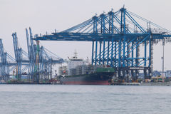 Statki przy Northport, Klang, Malezja - serie 3 Obrazy Royalty Free