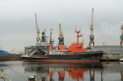Statki są przy kotwicą Zdjęcia Stock