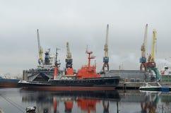 Statki są przy kotwicą Obrazy Stock