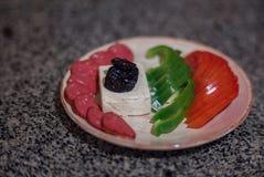 statki szklanych kolację soku warzywa Fotografia Royalty Free