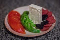 statki szklanych kolację soku warzywa Zdjęcie Royalty Free