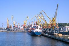 statki towarowe jardów Zdjęcia Stock
