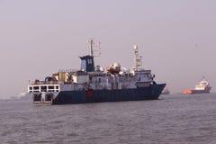 Statki w Arabskim morzu Zdjęcia Stock