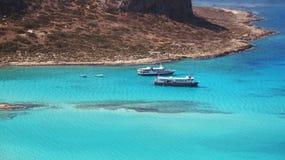 Statki w morzu Obrazy Stock