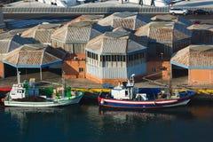 Statki w porcie, Barcelona Zdjęcie Stock