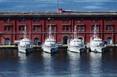 Statki w porcie Naples Obrazy Stock