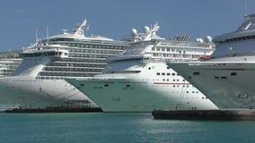 Statki wycieczkowi w Nassau zdjęcie wideo