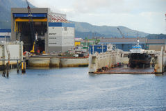 Statku Dockyard Ketchikan Alaska zdjęcie stock