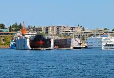Statku dok spławowy suchy Zdjęcia Royalty Free