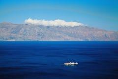 Statku żeglowanie w Mediterranian morzu Fotografia Stock