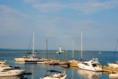 Statku jachtu port Fotografia Stock