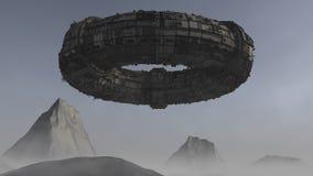 Statku kosmicznego UFO obcy Fotografia Royalty Free