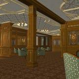 statku luksusowy stary izbowy dymienie ilustracji