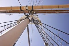 Statku maszt i jard ręka Fotografia Royalty Free