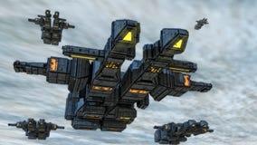 statku obcy ufo Obrazy Royalty Free