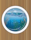 Statku porthole podwodny okładkowy projekt Fotografia Royalty Free