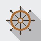 Statku steru Wektorowa Płaska ikona Zdjęcie Stock