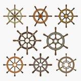 Statku steru Wektorowe ikony Ustawiać Zdjęcie Royalty Free