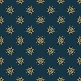 Statku steru wektorowy bezszwowy wzór Obraz Royalty Free